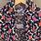 close up of kimono style top collar