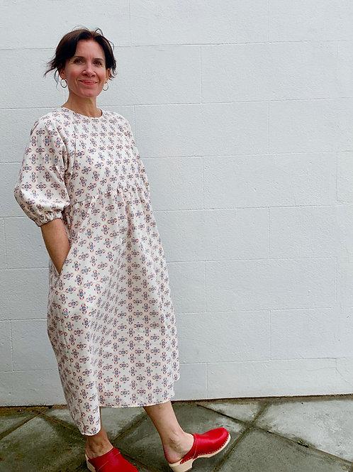 Japanese Brushed Cotton print Kay Dress