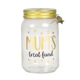 Mum's Treat Fund Money Jar