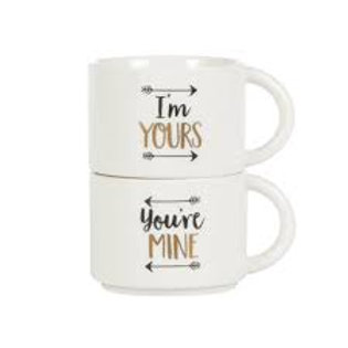 I'm Yours, You're Mine Stacking Mugs
