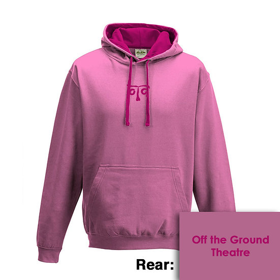 Hoody - Candyfloss Pink/Hot Pink