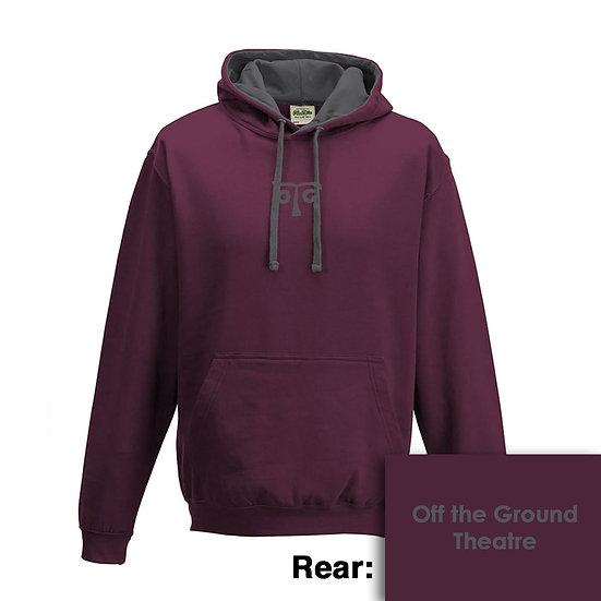 Hoody - Burgundy/Charcoal