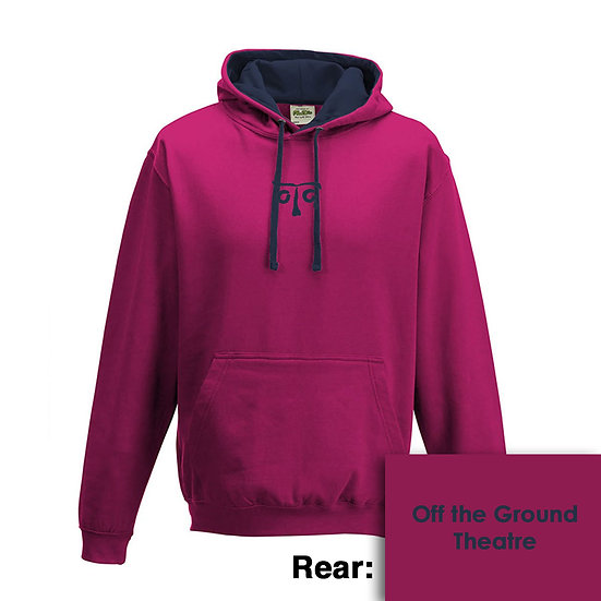 Hoody - Hot Pink/French Navy