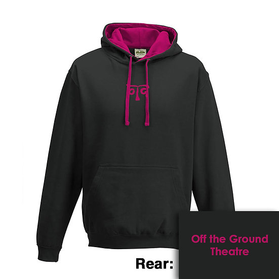 Hoody - Jet Black/Hot Pink