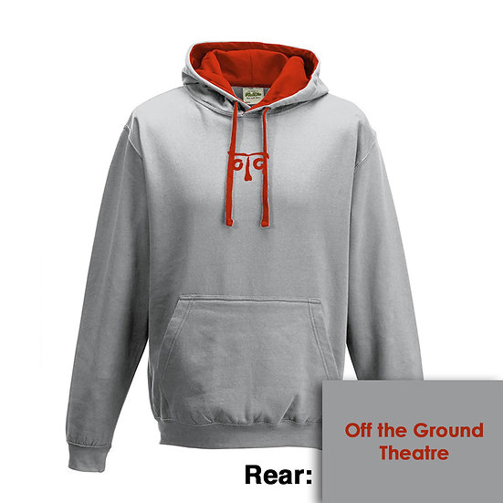 Hoody - Heather Grey/Fire Red