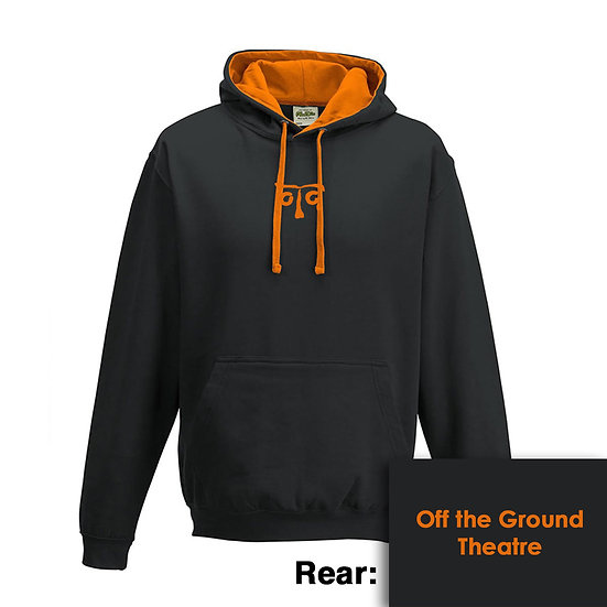 Hoody - Jet Black/Orange Crush