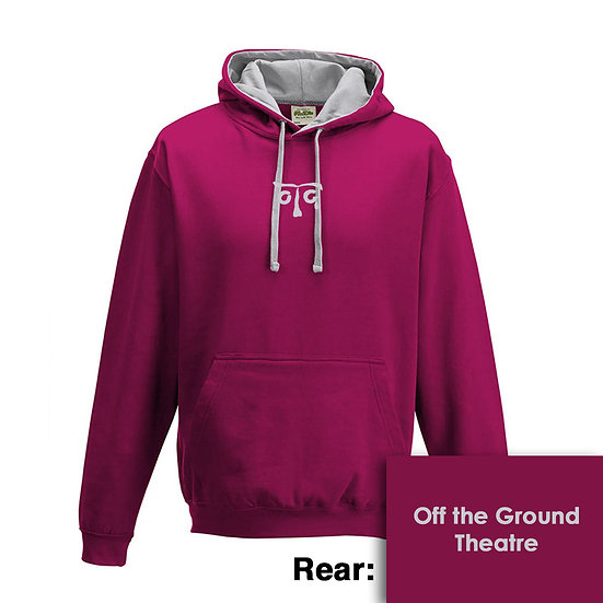 Hoody - Hot Pink/Heather Grey