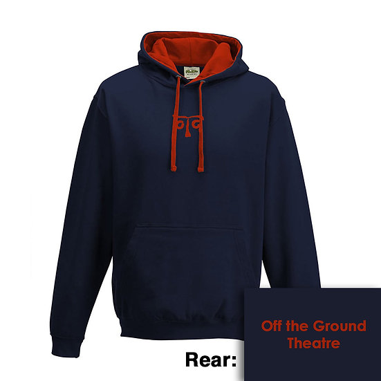 Hoody - New French Navy/Fire Red