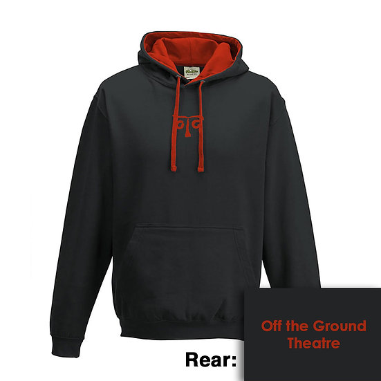 Hoody - Jet Black/Fire Red
