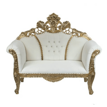Double Middle Crown Throne Gold White