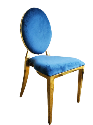 Dining Chair Gold Blue
