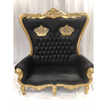 Double Crown Throne Gold Black