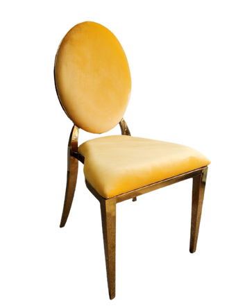 Dining Chair Gold Yellow