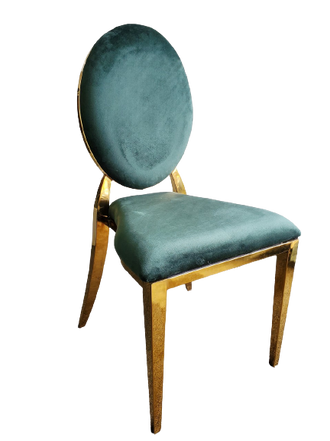 Dining Chair Gold Green