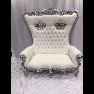 Double Crown Throne Silver White
