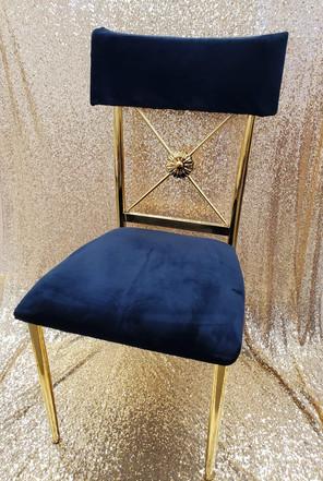Floral Black Velvet Dining chair