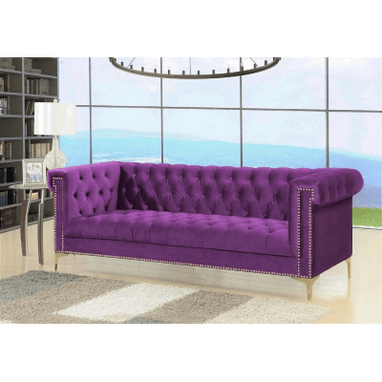 Triple Modern Velvet Purple
