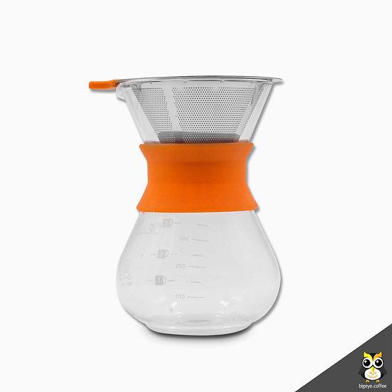 แก้วดริปกาแฟมียาง 350 ml. Pour-Over Glass Coffee Maker with Rubber