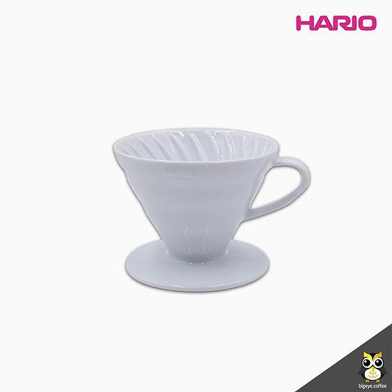 ดริปเปอร์เซรามิค Hario V60 สีขาว