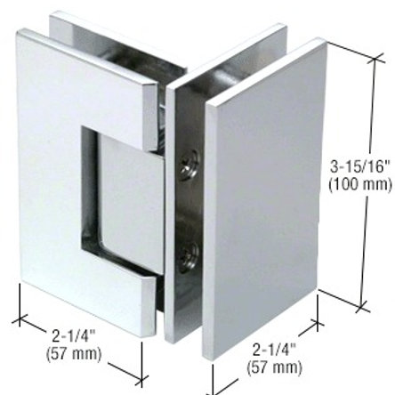 HEAVY DUTY 90 DEGREE GLASS TO GLASS HINGES