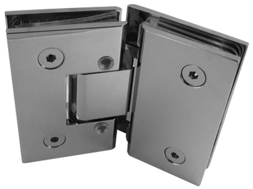 135 / 45 DEGREE ADJUSTABLE GLASS TO GLASS HINGES