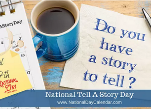Tell a Story Day - We have cookies - My stories: takeover, podcast & a virtual event. Interview