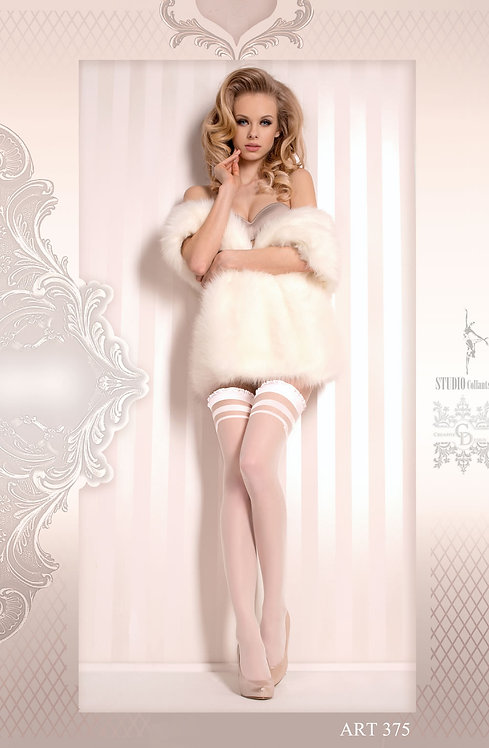 Ballerina (375) Hold Ups White