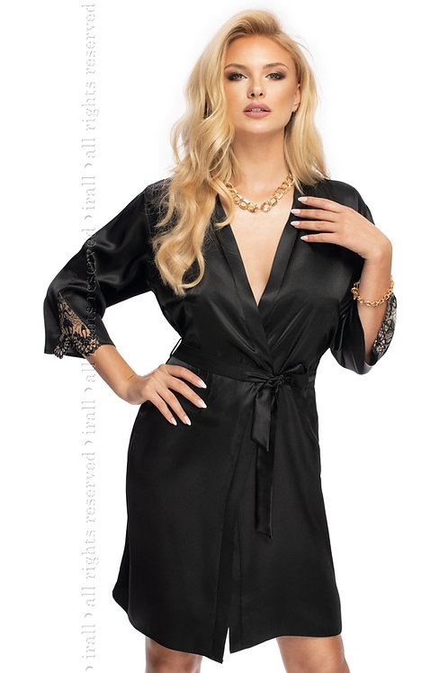 Mallory Dressing Gown In Black