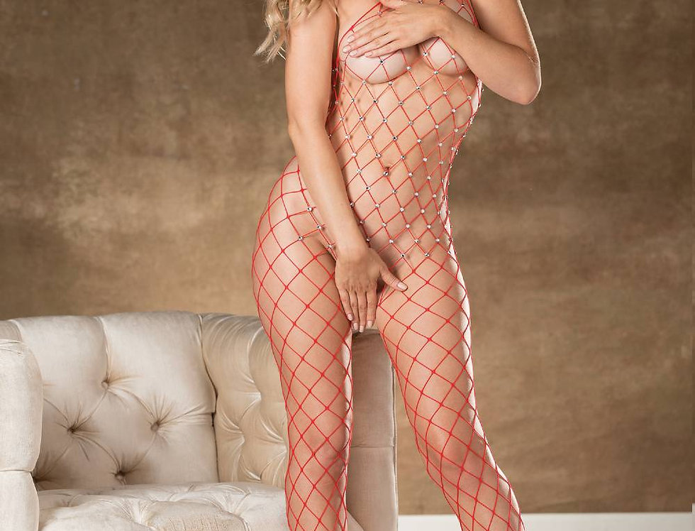 Bodystocking In Red (90449)