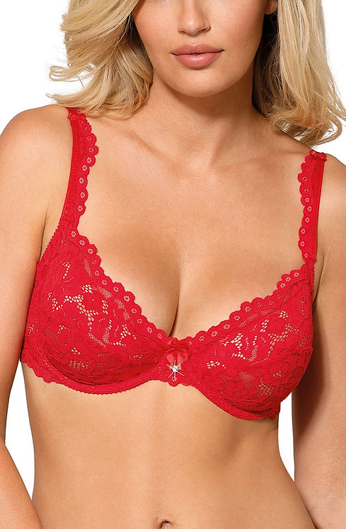 Newia Soft Cup Bra In Red
