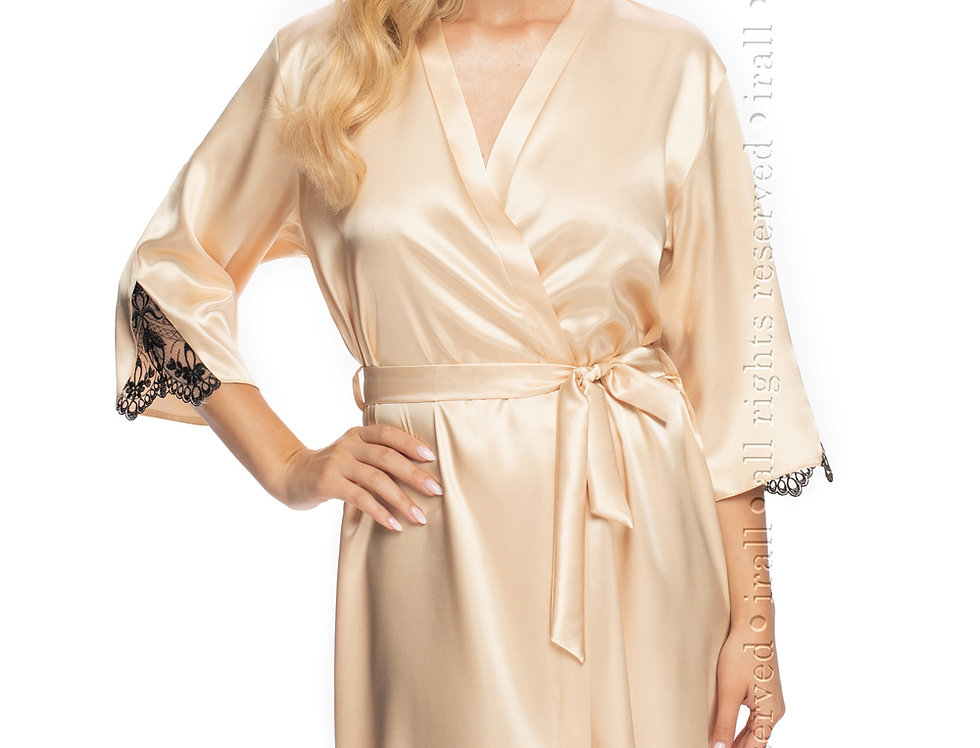 Mallory Dressing Gown In Champagne
