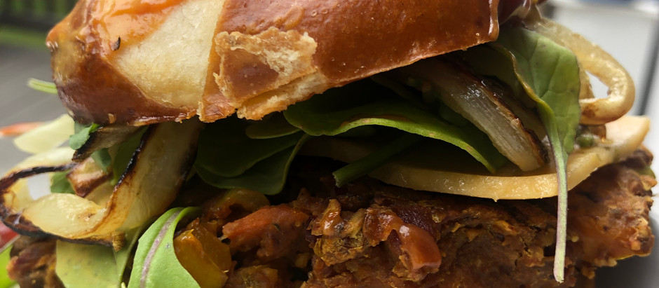 Hearty Grilled Lentil Burgers