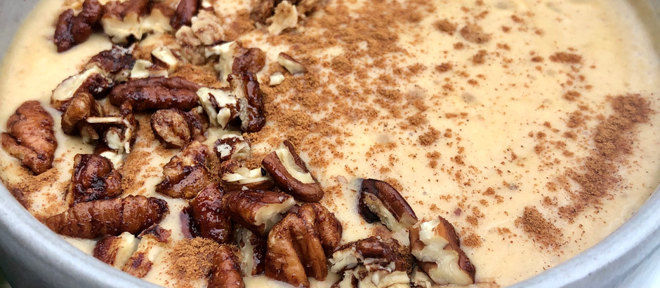 Pumpkin Spice and Maple Pecan Smoothie Bowl