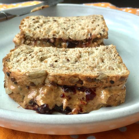 PB + J Sandwich with Berry Chia Spread