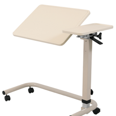 Overbed Table with Split Tilt Top