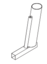 Cane Holder Rear Single