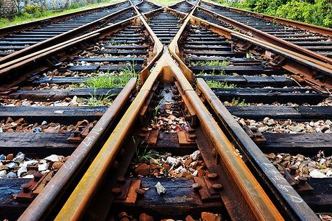 Sporen van de spoorweg