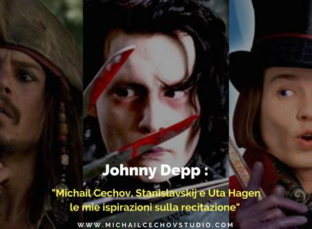 """Johnny Depp: """"Michail Cechov, Stanislavskij e Uta Hagen le mie ispirazioni per la recitazione"""""""