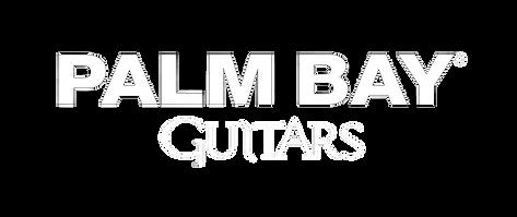 Palm Bay Guitars writing (white, no logo