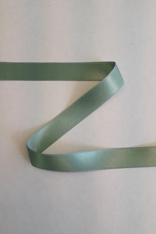 Ruban satin double face 15mm vert (063)