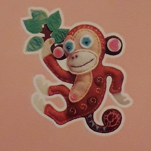 Kit créatif couture Doudou singe