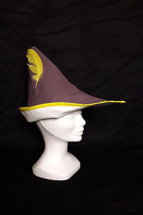 Coiffe Robin violet et jaune