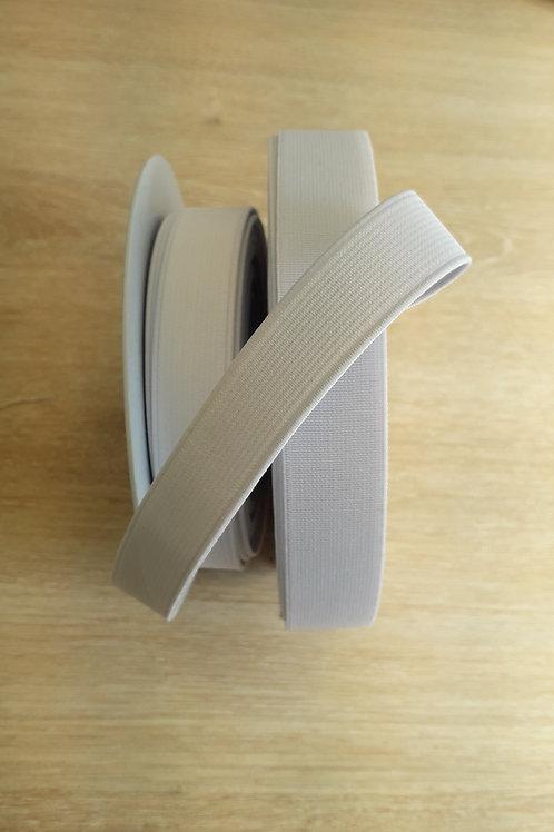 Elastique côtelé 20mm blanc (501)