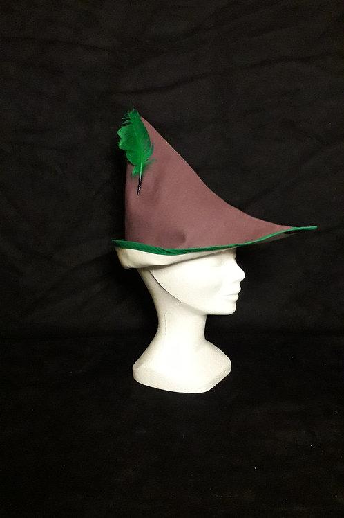 Coiffe Robin violet et vert