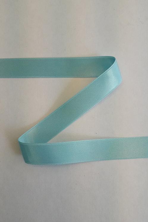 Ruban satin double face 15mm bleu d'eau (004)