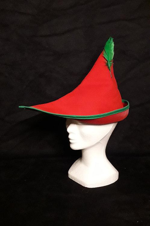 Coiffe Robin rouge et vert