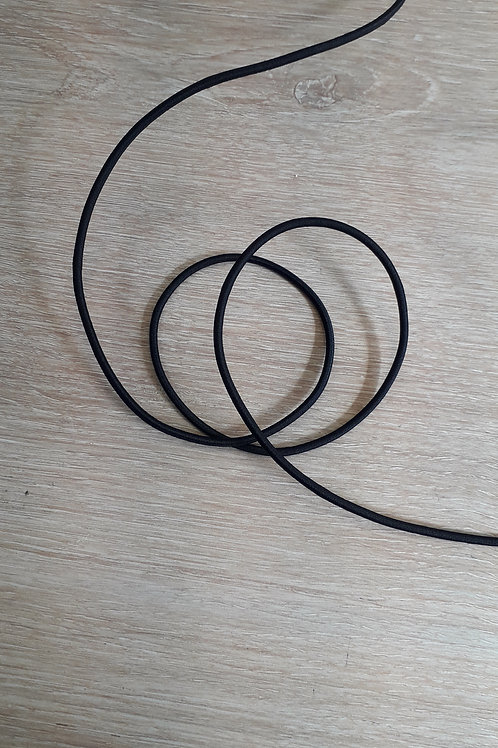 Cordon élastique 2.5mm noir (580)