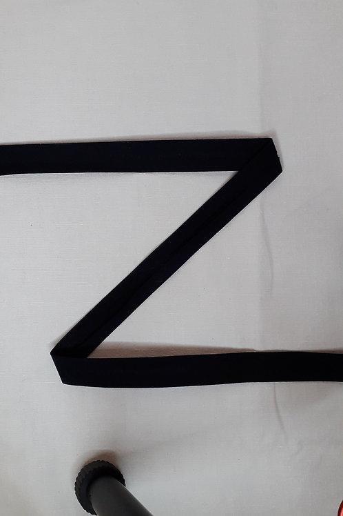 Biais 20mm noir (580)