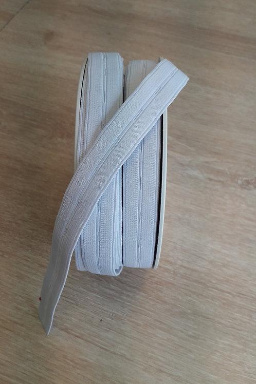 Elastique boutonnières 18mm blanc (501)
