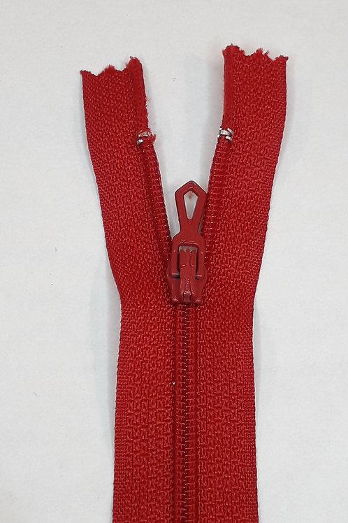 Fermeture Z51 10 à 20cm 4mm non-détachable rouge sang 850